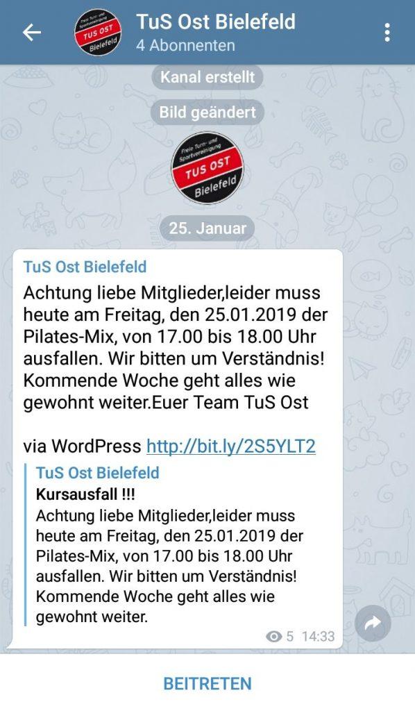 Telegram Channels Tus Ost Bielefeld